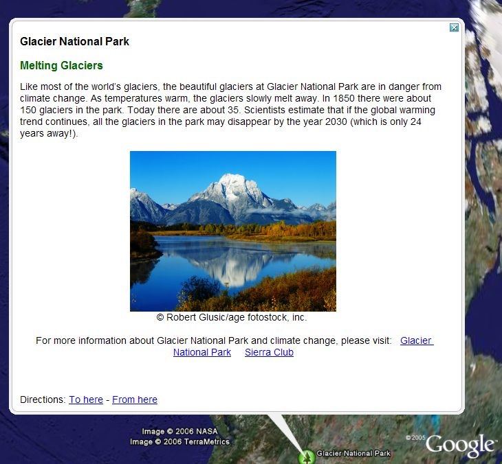 Earth Day Lessons in Google Earth