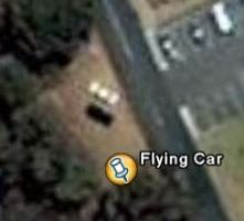 flying car  in Google Earth