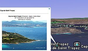 Aerial Photos of Coast of France in Google Earth