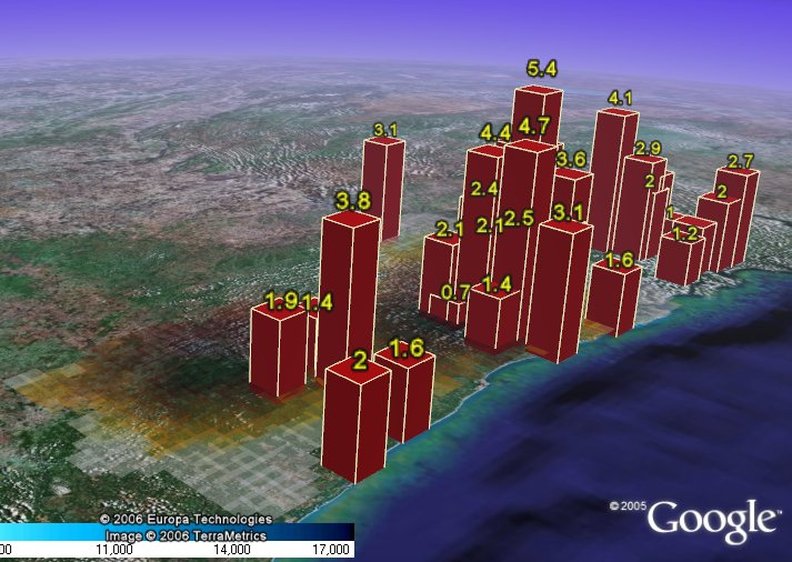 GE-Graph in Google Earth