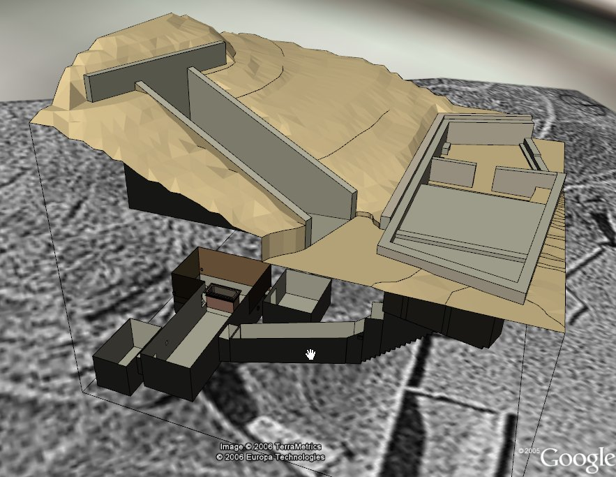 Tutankhamon's tomb, KV62, in Google Earth