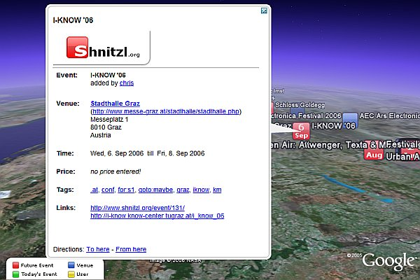 Shnitzl in Google Earth