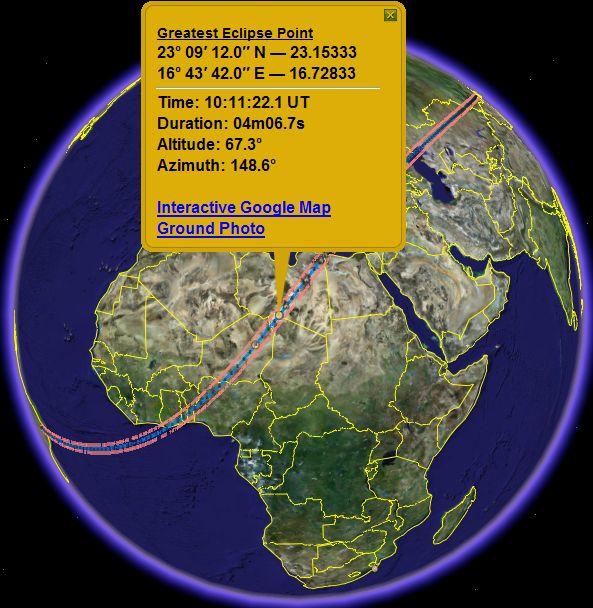 Solar Eclipse Paths In Google Earth Google Earth Blog