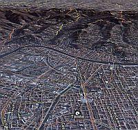 Torino, Italy Olympics in Google Earth