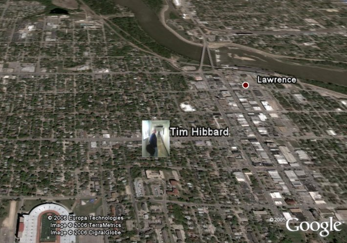 Where's Tim in Google Earth