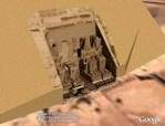 Abu Simbel Ramsses statues in 3D in Google Earth