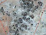 Darfur village in Google Earth