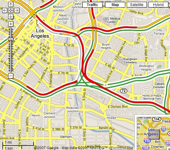 New Real-time Traffic in Google Maps for USA - Google Earth Blog on google map in real-time, google maps traffic colors, google current traffic, google webmaster traffic, google maps traffic craiova, google maps traffic cameras,
