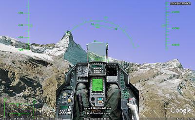 F16 cockpit for Google Earth Flight Simulator