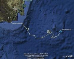 Oliver Hicks track in Google Earth