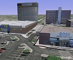 Best Buy and Ross department stores in 3D in Google Earth