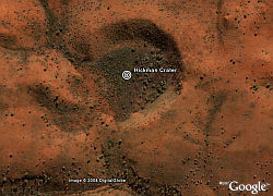 Hickman Crater in Google Earth