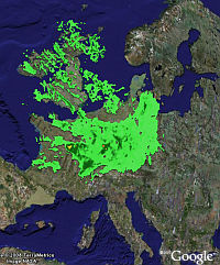 Expanded Weather Radar in Google Earth