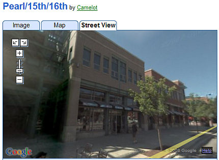 Example of 3D Warehouse Street View