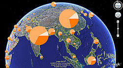 Population Graph in Google Earth