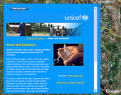 Unicef: Water and Sanitation layer in Google Earth