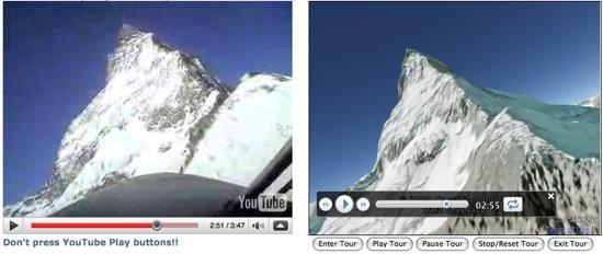 Swiss Fighter Video/Google Earth