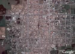Greensburg, Kansas destroyed by tornado in Google Earth