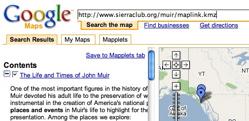 KML files in Mapplets