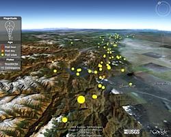 Sichuan Earthquake in Google Earth