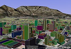Cape Town 3D Buildings in Google Earth