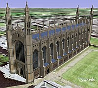 Kings College Chapel in Google Earth