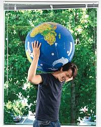 John Hanke as Atlas with Earth on his shoulders