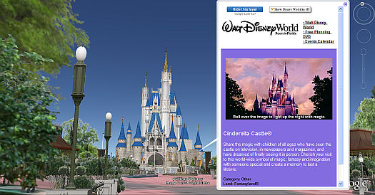 Disney World in 3D in Google Earth