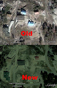 Example of old/new imagery in Google Earth