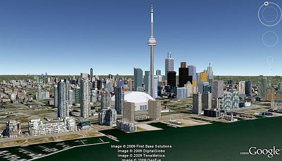 Toronto in 3D in Google Earth