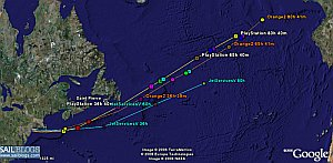 Sailing Records Race in Google Earth