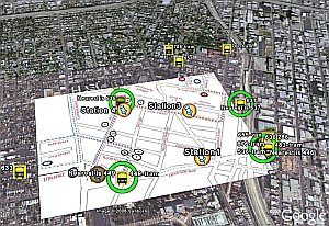 Live tracking of USC buses/trams in Google Earth