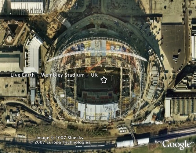Live Earth Concerts in Google Earth - Google Earth Blog