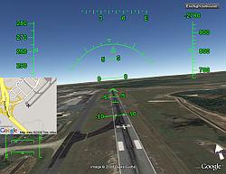 GPS Chartplotter in Google Earth Flight Simulator