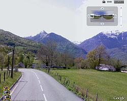 Street View for Tour de Francein Google Earth