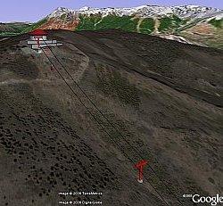 Bariloche, Argentina in Google Earth