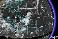 Hurricane Ernesto in Google Earth