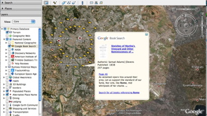Book search layer in Google Earth