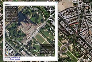 FlashEarth in Google Earth