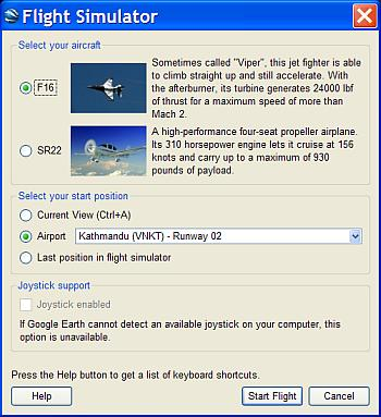 Google Earth Flight Simulator Tips - Google Earth Blog