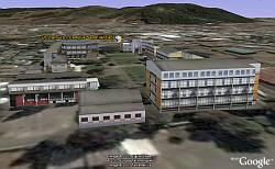 Temuco Chile 3D Campus models in Google Earth