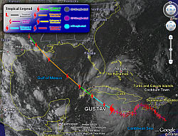 Track Hurricane Gustav in Google Earth
