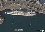 Capsized Cruise Ship in Korea in Google Earth