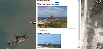 Shipwrecks in Google Earth