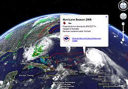 Hurricane Layer in Google Earth