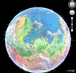 Future Modified Mars in Google Earth