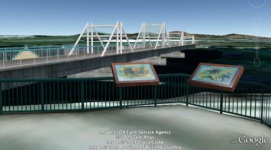Bridge in Washington in Google Earth