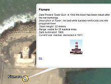 Lighthouses in Italy in Google Earth