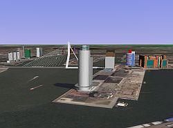 Highest Buildings in 3D in Rotterdam in Google Earth screenshot