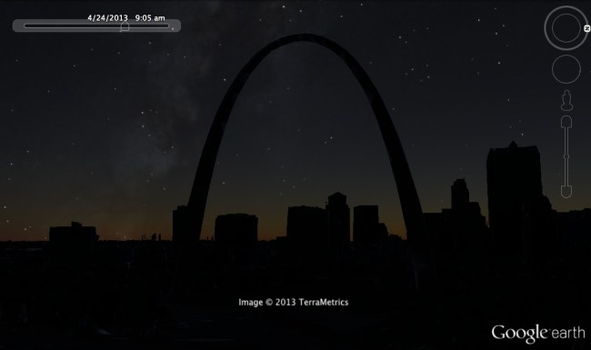 Google Earth 7.1 Night View St. Louis